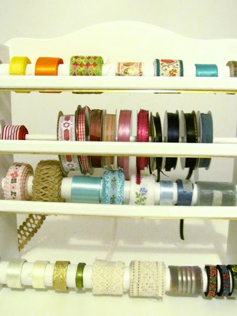 DIY Ribbon Holder, DIY Ribbon Organizer, Easy Craft