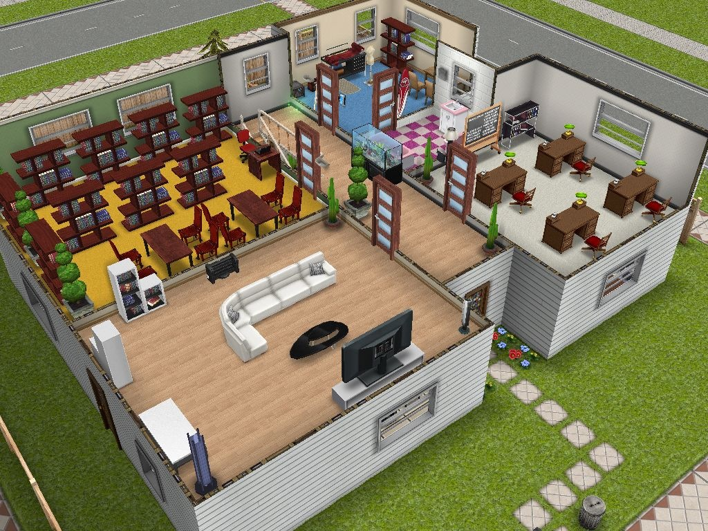 Sims freeplay pt a minha primeira casa for Casa de diseno sims freeplay