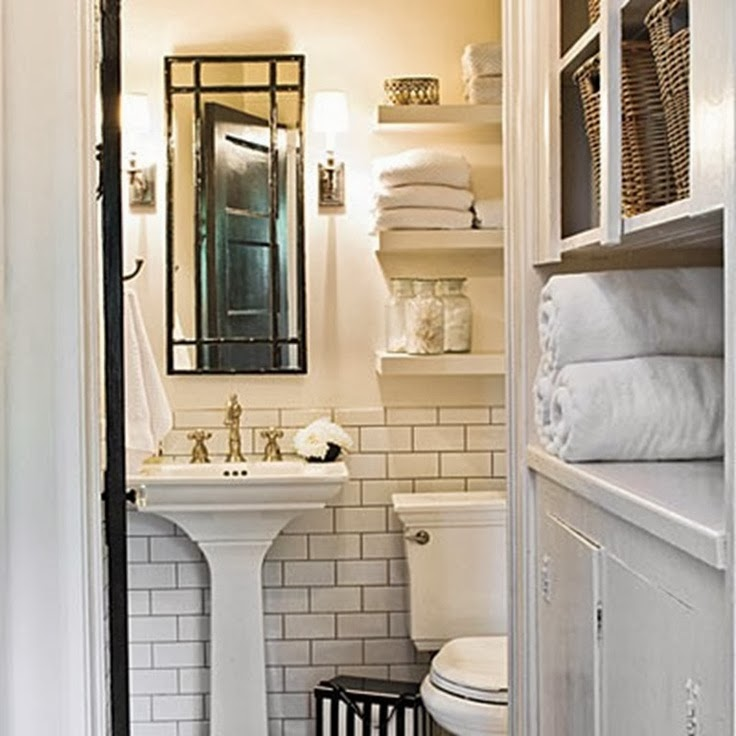 To da loos white subway tiles with dark grout do we like it for English cottage bathroom ideas