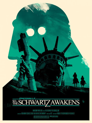 "Spaceballs ""The Schwartz Awakens"" Screen Print Series by Joshua Budich - ""There Goes The Planet"""