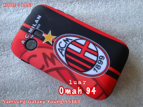 Jual Otterbox Commuter Case Samsung Galaxy Young S5360 AC Milan