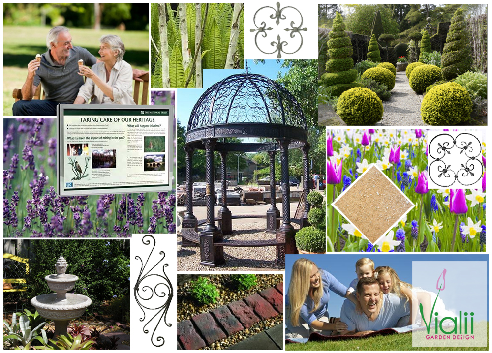Garden Design Mood Board moodboard for a grow your own garden | vialii: moodboards