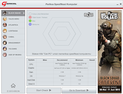 Aplikasi Gemscool Spec PC - Cari  Tahu Spesifikasi Komputer Kamu Untuk Game Online Gemscool