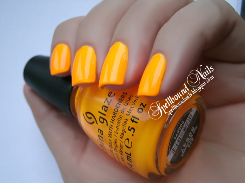 China Glaze nails nail polish neon Sun Worshiper Poolside summer