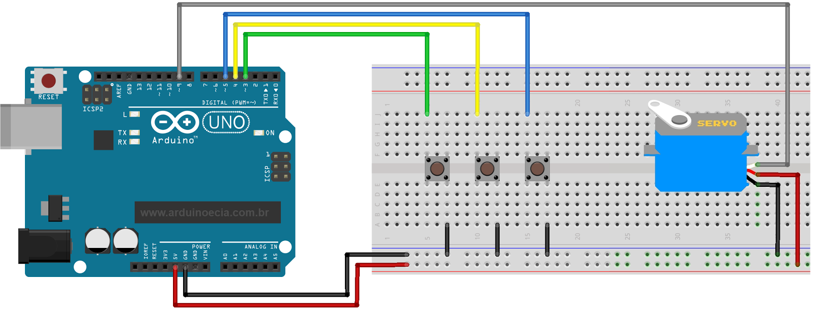 Controlling a servo motor with arduino circuits you