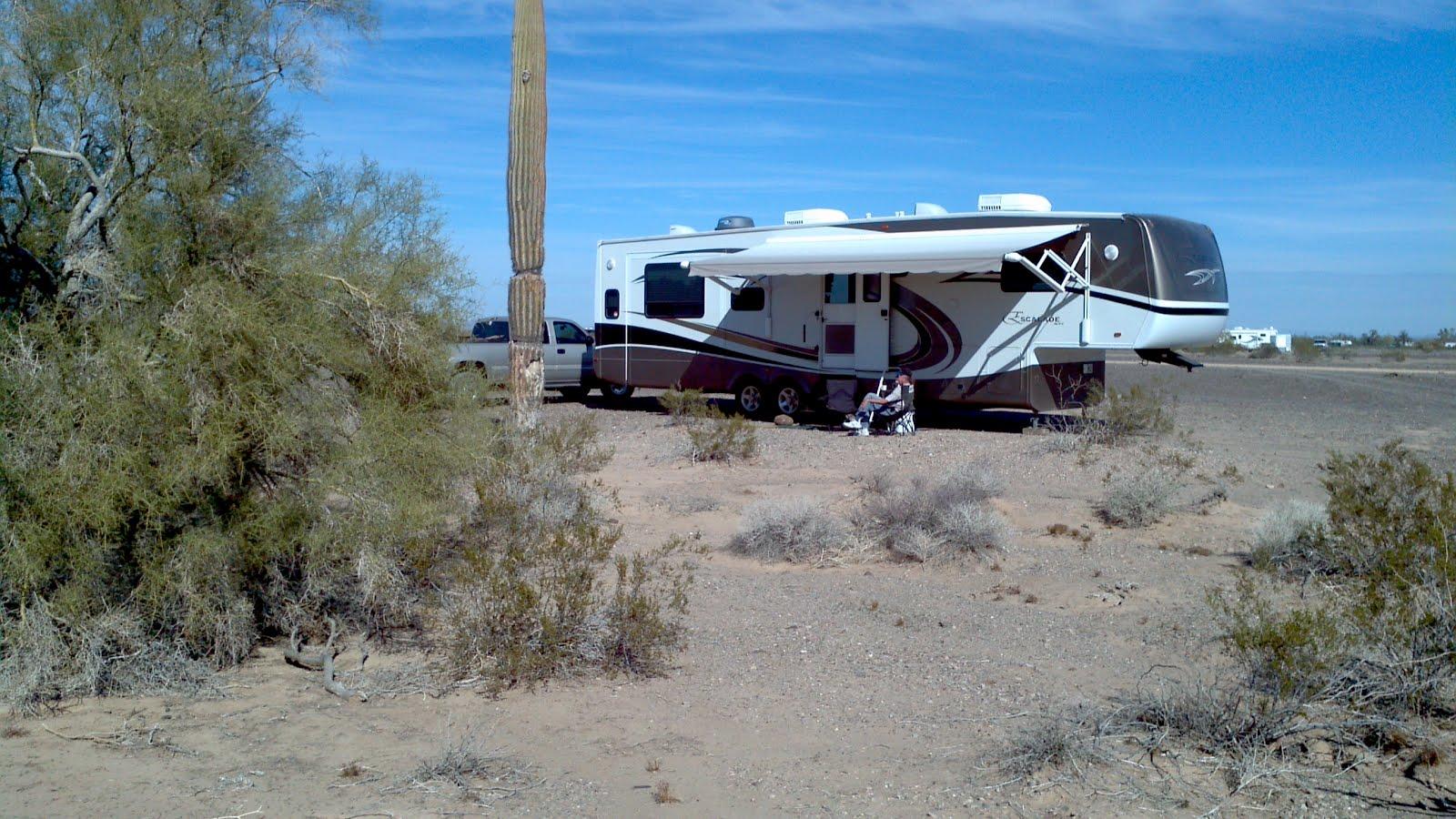 At Home On The Road: Arizona Sun & Solitude...desert camping!