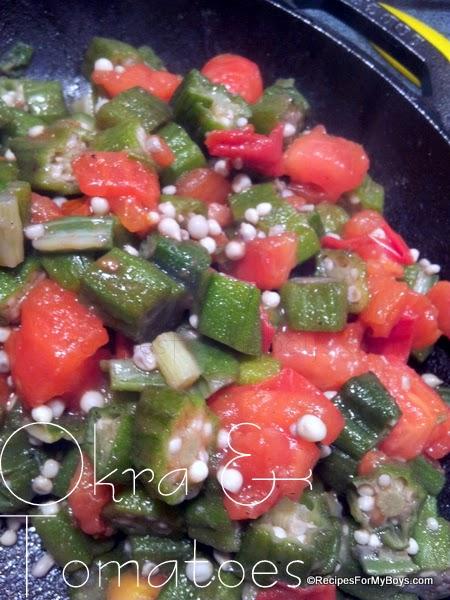 Okra and Tomatoes RecipesForMyBoys.com