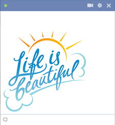 Life is beautiful emoticon