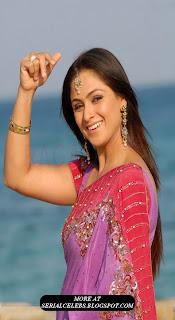 simran in pink low hip saree