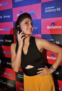 Actress Jacqueline Fernandez Pictures at Samsung Galaxy S6 Smart Phone Launch in Mumbai  15.JPG
