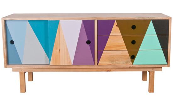 rack colorido, pintura com grafismo, grafismo, movel colorido, cores, pintar madeira