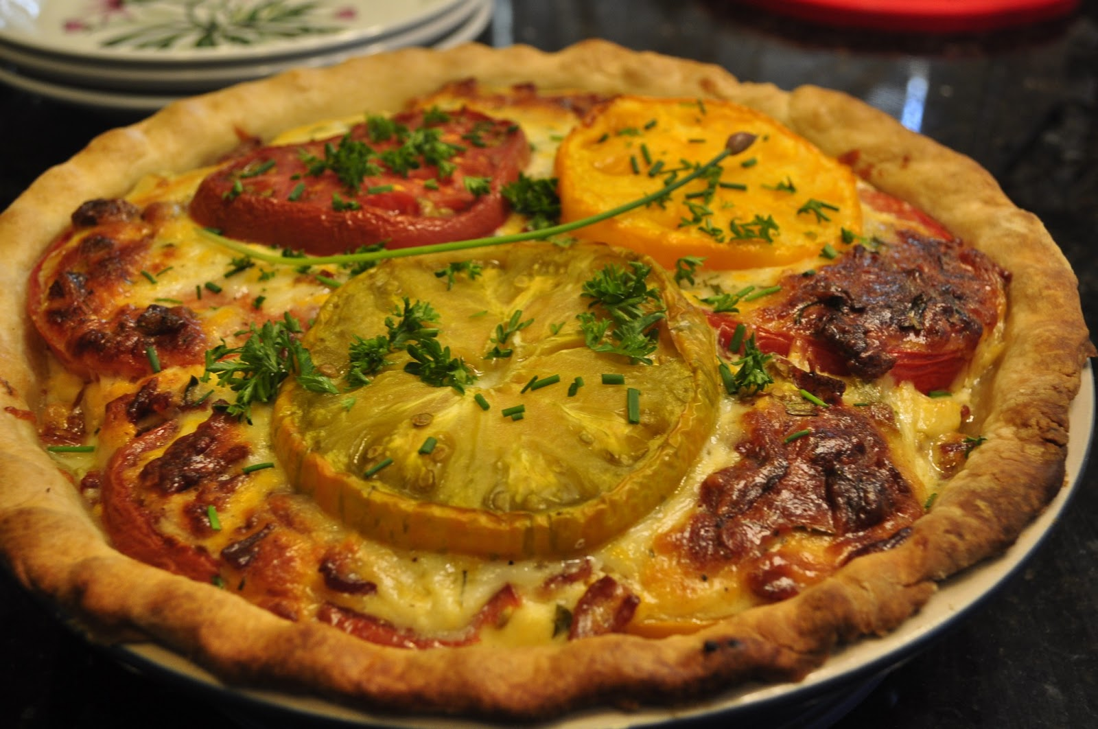 Tomato, Cheddar, and Bacon Pie ~ Southern Living - Create Amazing ...