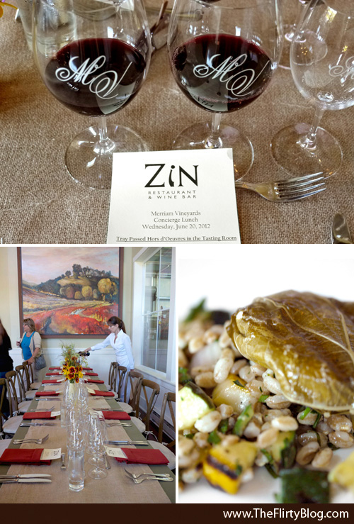 Merriam Vineyards, Luncheon, ZiN Restaurant