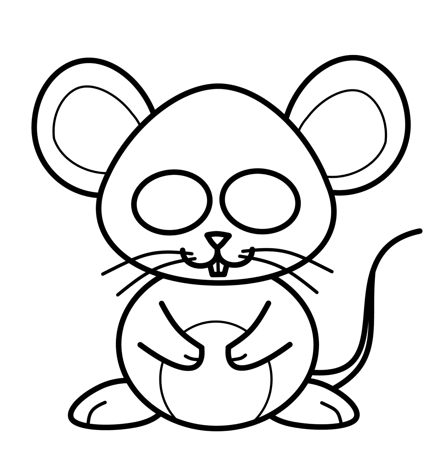 How to draw cartoons mouse for How to draw with a mouse