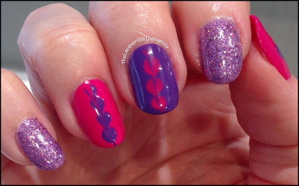 dry marble, heart, zoya, pink, purple, Valentines