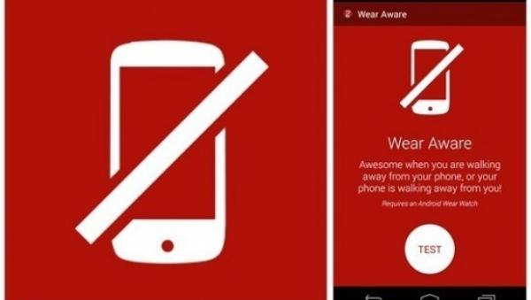 Android Wear crea aplicación que alertará al usuario si olvida su smartphone.