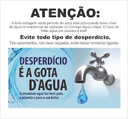EVITE DESPERDÍCIO DE ÁGUA
