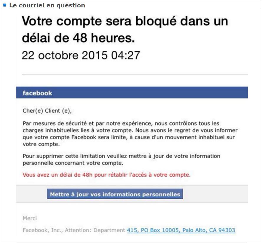 Facebook vous donne 48 heures pour confirmer les infos for Dans 48 heures