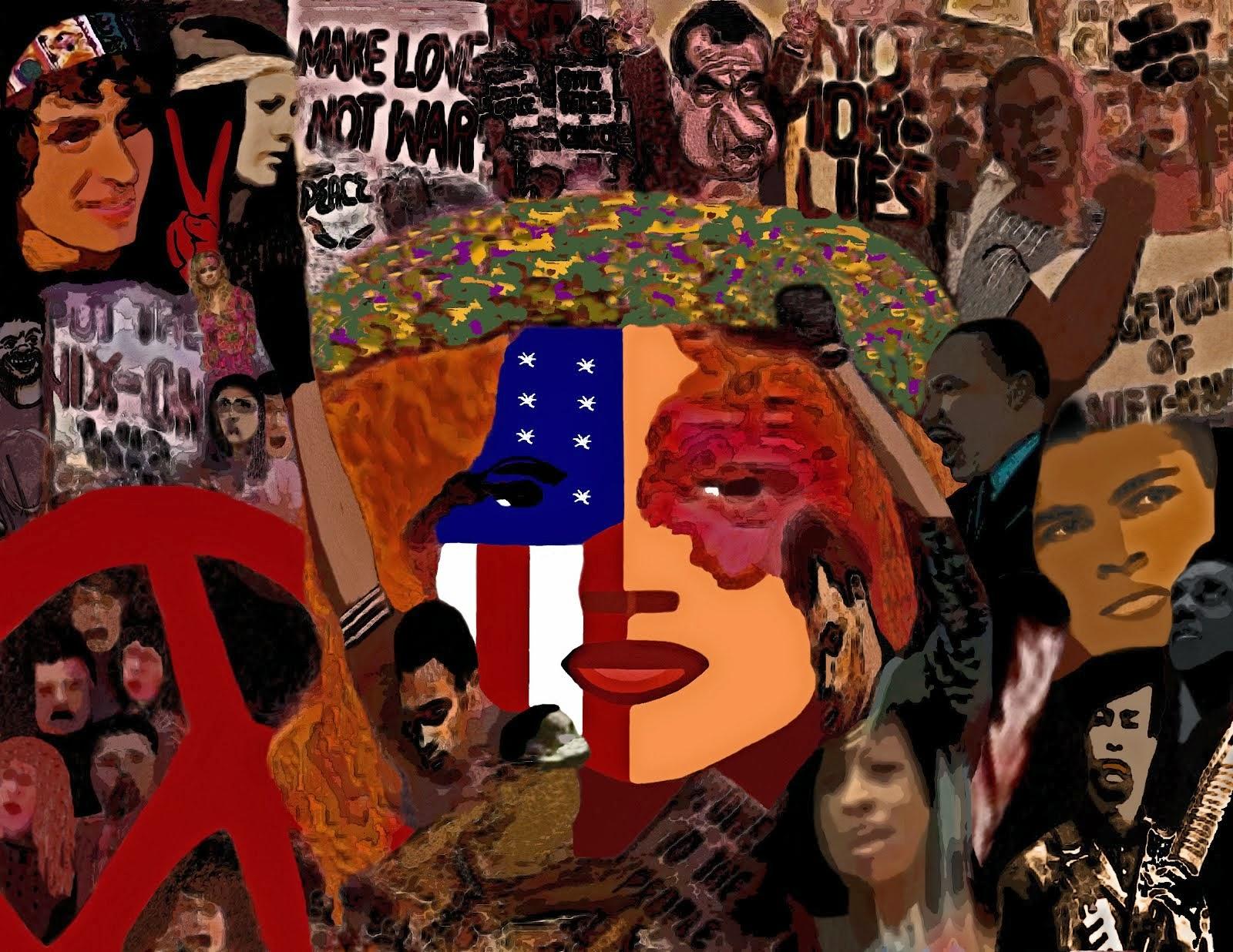 Unique Graphic Collage Art