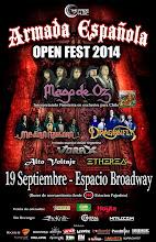 Recitales en Chile Septiembre :                                      Armada Española Open Fest 2014