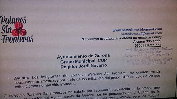AVISAMOS: CAP COP de la CUP al CAP