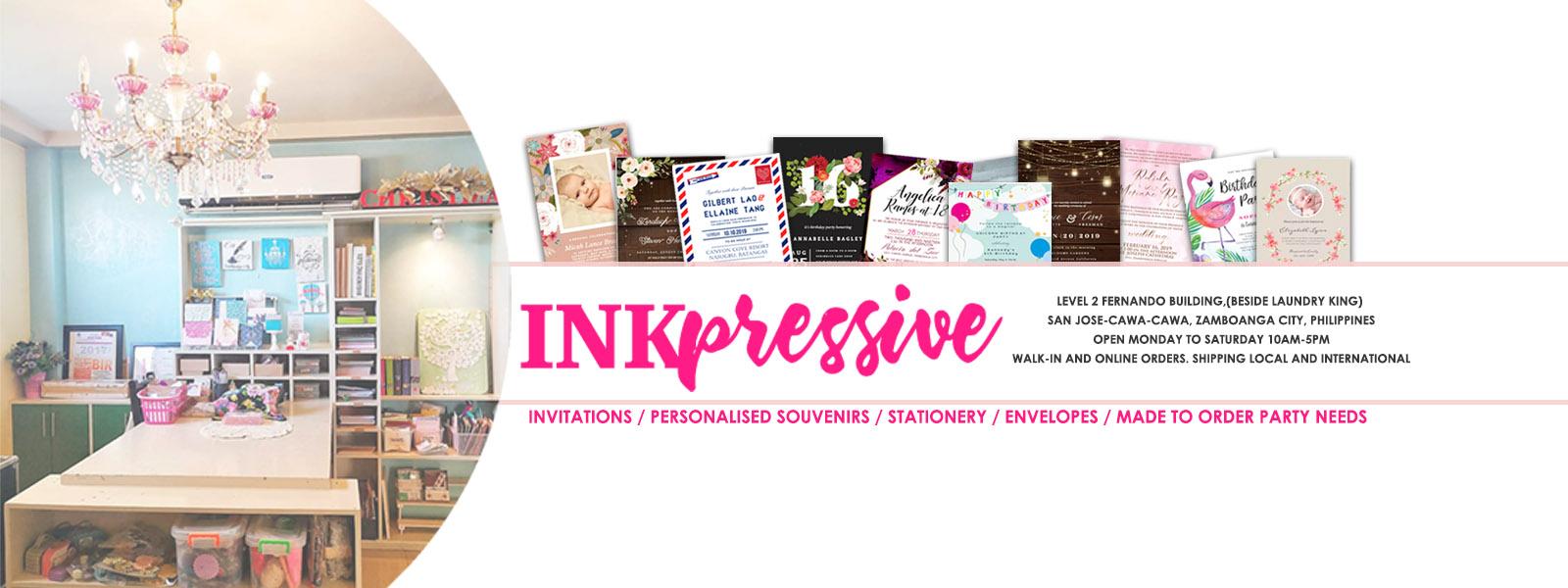 Inkpressive Invitations and Crafts