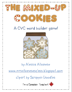 http://www.teacherspayteachers.com/Product/The-Mixed-Up-Cookies-CVC-Game-178566