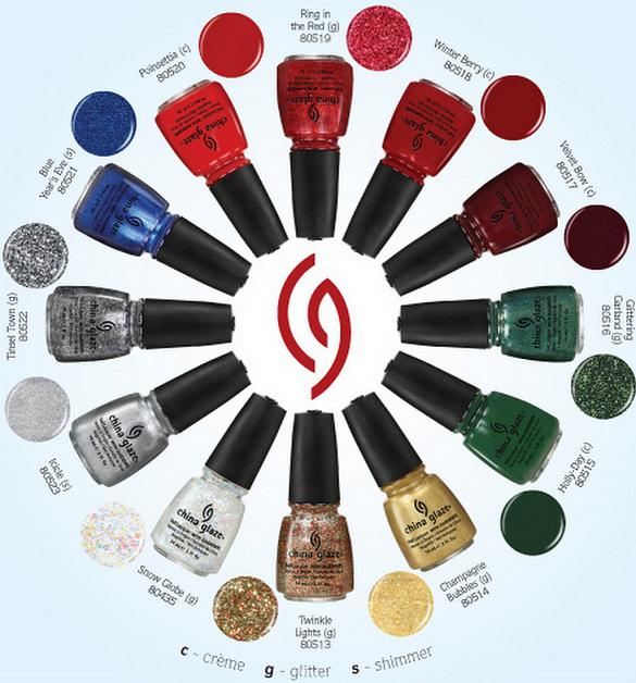 China Glaze Holiday 2011: Holly-Day and Snow Globe