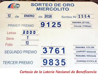 resultados-sorteo-miercoles-13-de-enero-2016-loteria-nacional-tablero