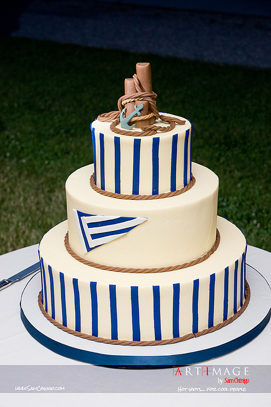 """nautical wedding cake"