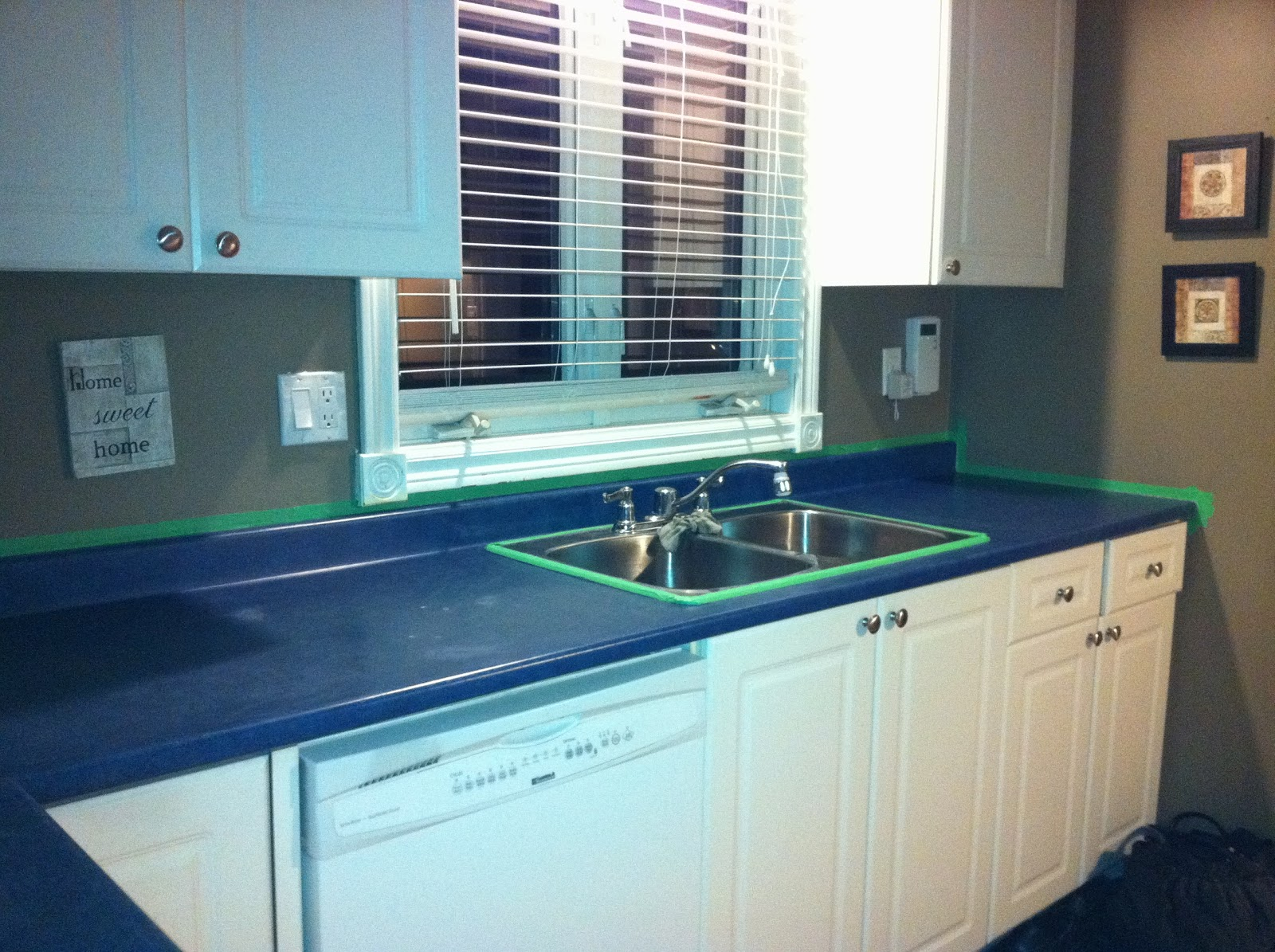 Blue Butterfly Renew: Painting Laminate Countertops