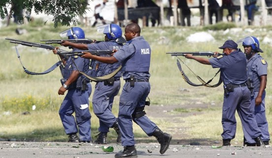 Research on police brutality in south africa