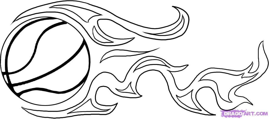 Line Drawing Basketball : Basketball ball drawing image search results