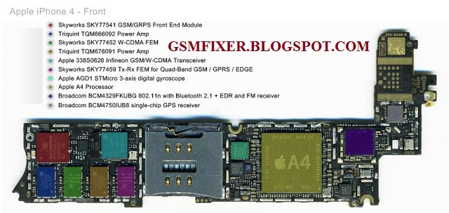 iphone 4g schematic diagram pcb layout with details | gsmfixer, Schematic