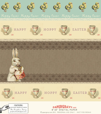 Printable Vintage Easter Digital Paper