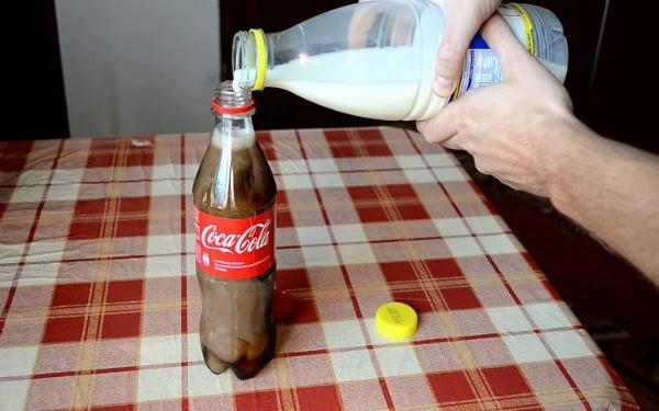 ماذا سيحدث اذا خلطنا الكولا بالحليب - ستندهشمما ستراه