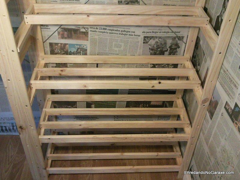 Almacén para madera, Lumber rack. Enredandonogaraxe.com