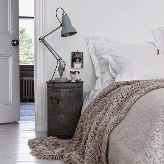 rustic bedside lamp