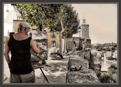 GIRONELLA-BERGUEDA-PAISAJES-CAMPANARIO-FOTOS-PINTURA-PINTOR-ERNEST DESCALS-