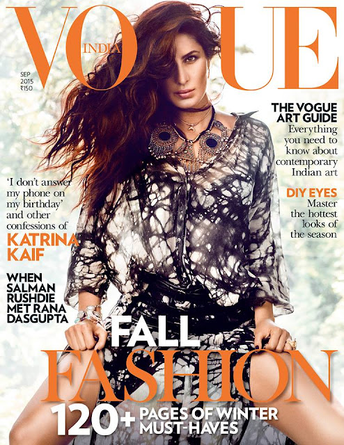 Actress, Model @ Katrina Kaif - Vogue India, September 2015