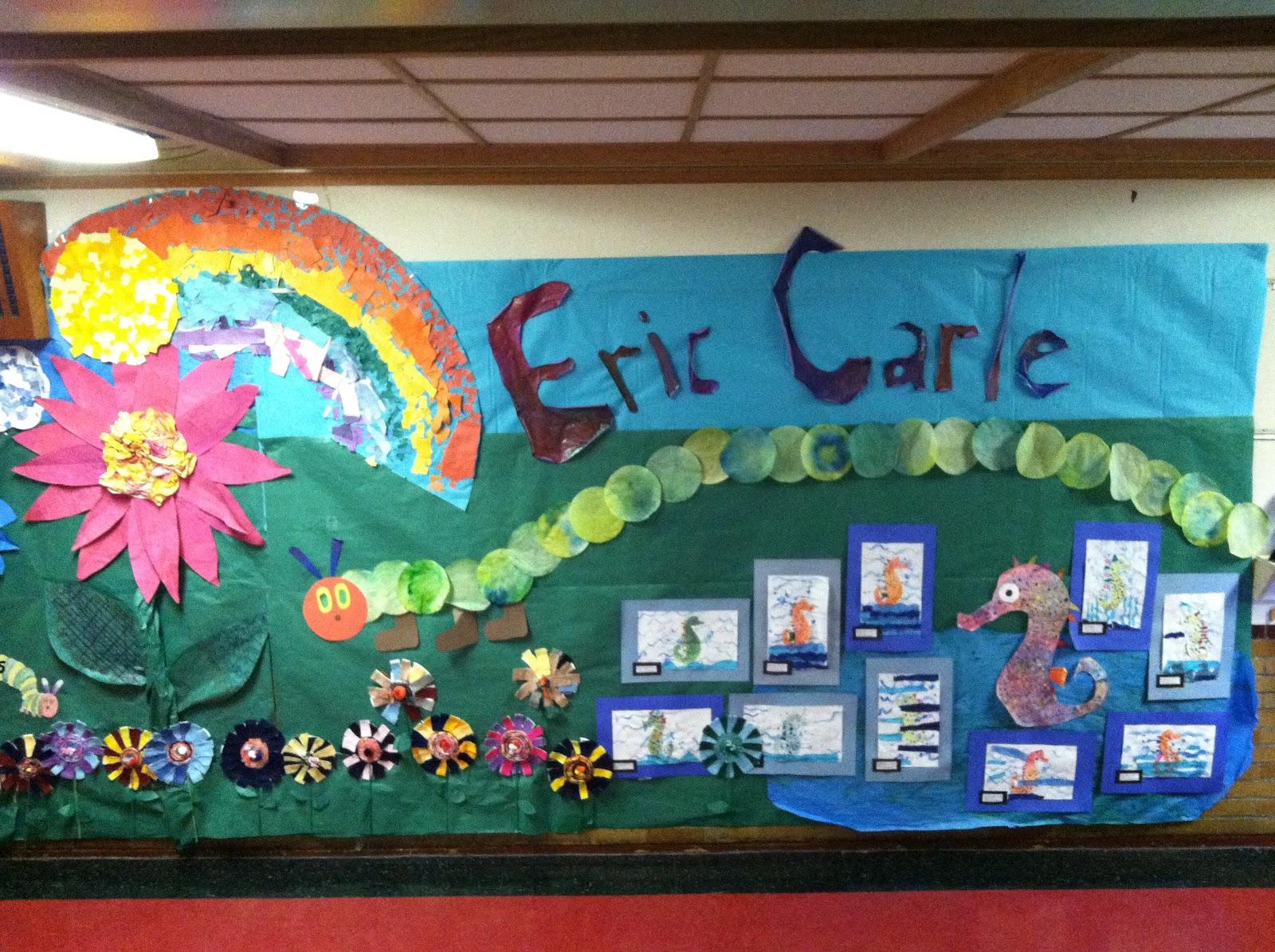 B an artist for Eric carle mural