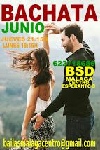 JUNIO BACHATA INICIACIÓN NUEVO CURSO, EN BSD MÁLAGA CENTRO.