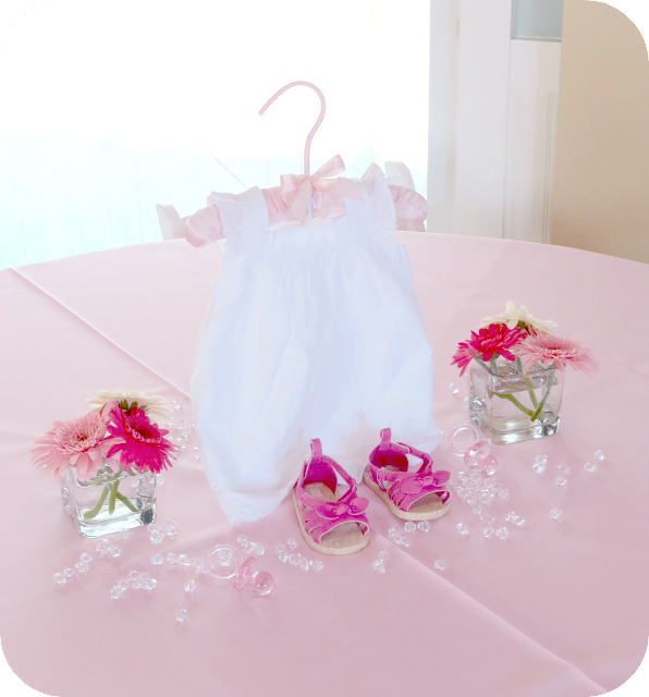 Baby Girl Shower Table Centerpiece