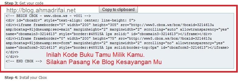 Kode Script Buku Tamu Di Cbox.ws