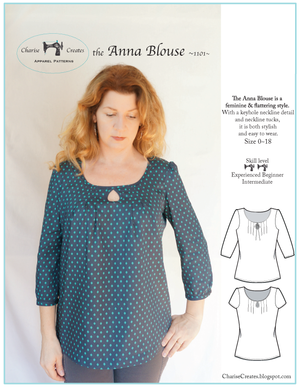Charise Creates: The Anna Blouse Pattern