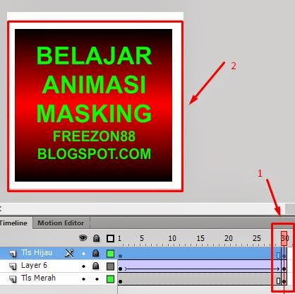tutorial membuat animasi masking - adobe flash