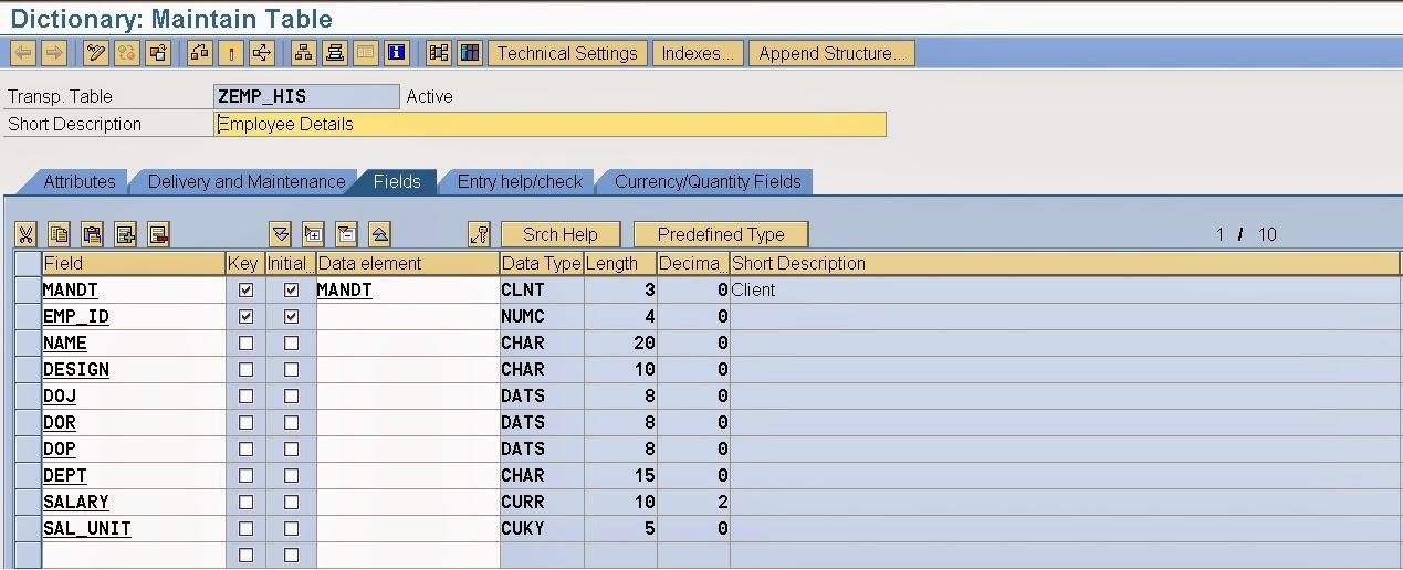 TECHSAP SAP Application Log Creation Of Application Log Object