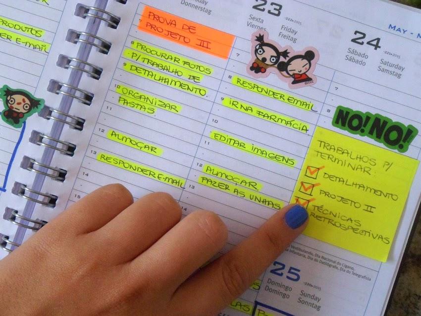 Agenda da faculdade