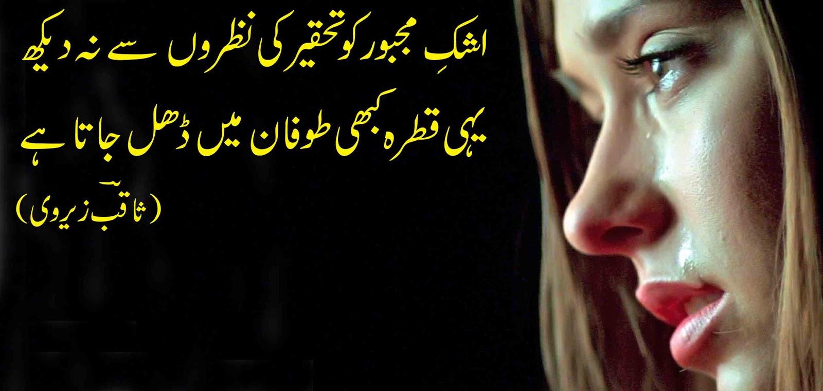 2 - اشکِ مجبور کو تحقیر کی نظروں سے نہ دیکھ