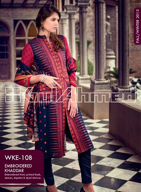 Gul Ahmed Embroidered khaddar Collection 2013